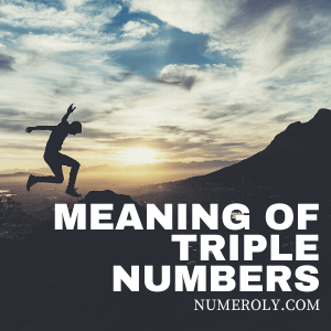meaning of triple numbers