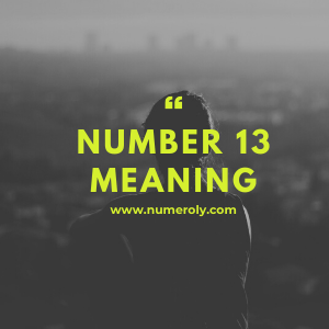 number 13 meaning